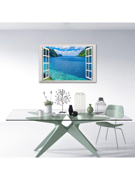 3d، طبيعة، ديكور، صمام جدار الفن، الملصق - البحيرة الزرقاء 48.5 * 72CM