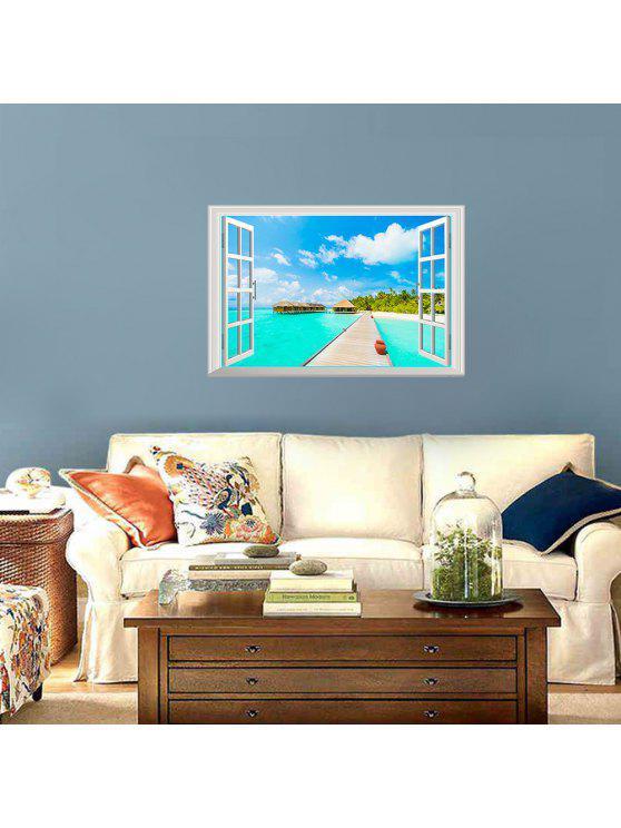 إزالة 3d شاطئ المشهد الفينيل الجدار ملصق - Colormix 48.5*72CM