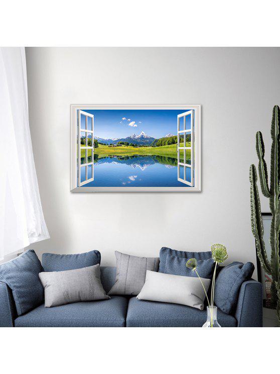 ديكور المنزل طبيعة مشهد 3d الجدار ملصق - أزرق 48.5 * 72CM