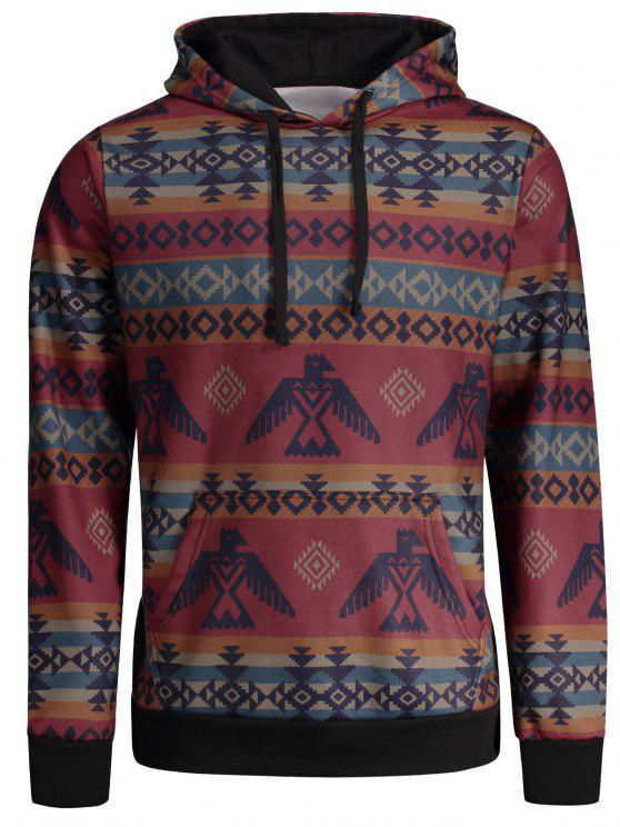 الكنغر جيب القبائل المطبوعة هوديي - Colormix 2XL
