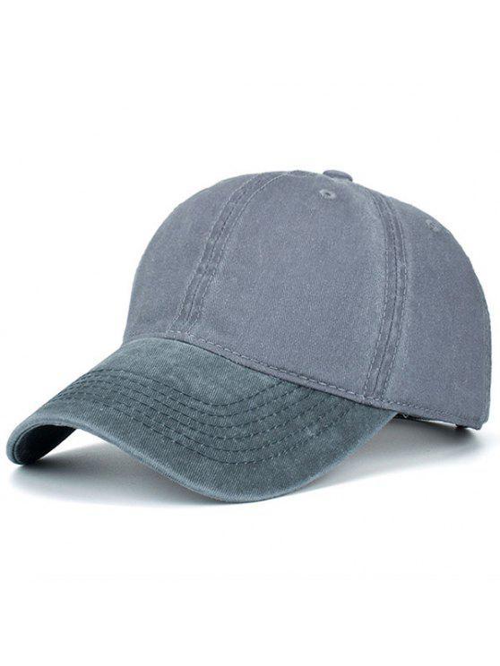 حنين اللون حجب قبعة بيسبول - رمادي و رمادي غامق