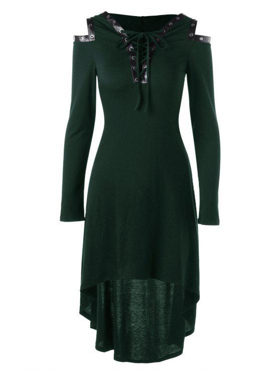 فستان باردة الكتف رباط باردة الكتف - أخضر M