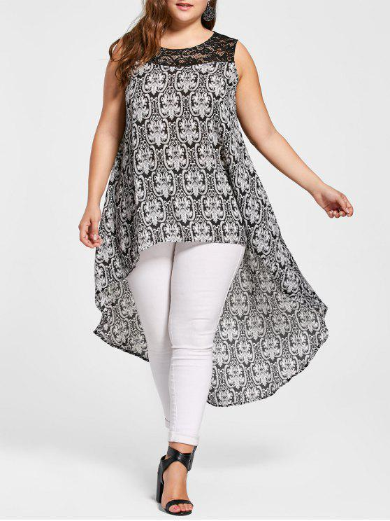 a555e6eb526 20% OFF] 2019 Plus Size High Low Tribal Print Tunic Top In COLORMIX ...