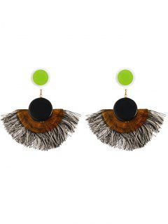 Tassel Bohemian Clip On Earrings - Black