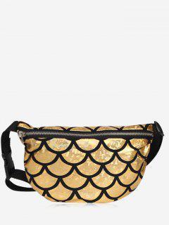 Zipper Scale Pattern Fanny Pack - Golden