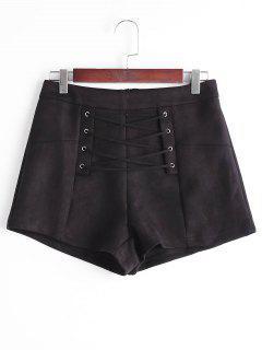 Pantalones Cortos De Encaje Alto - Negro M