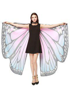 Chiffon Butterfly Strap Shape Wing Cape - Light Pink