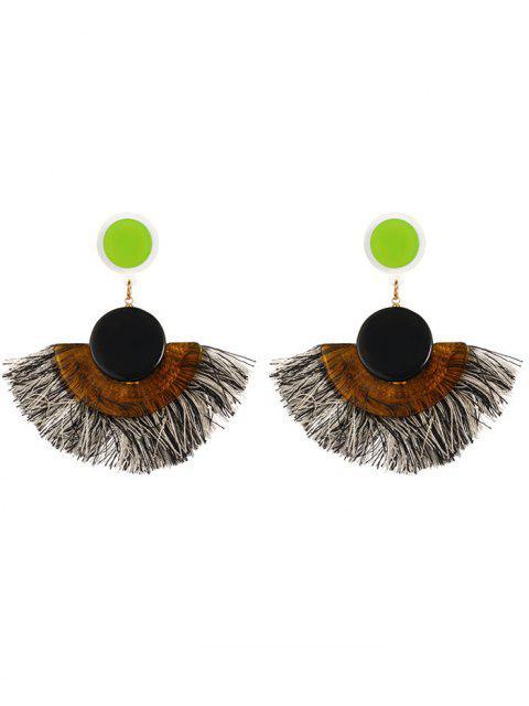 Tassel Bohemian Clip On Earrings - Noir  Mobile