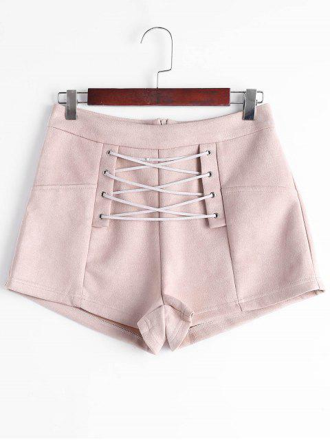 High Waisted Schnürsenkel - Nude Pink  S Mobile