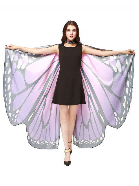 Chiffon Butterfly Strap Shape Wing Cape - Pourpre  Mobile