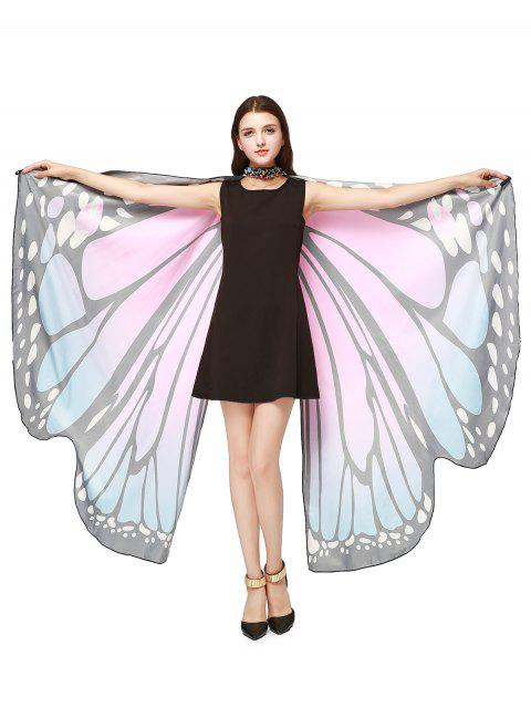 Chiffon Butterfly Strap Shape Wing Cape - Rose Clair  Mobile