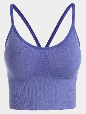 Contrast Trim Sports Bra