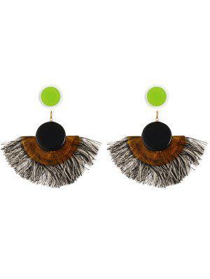 Tassel Bohemian Clip On Earrings - Preto