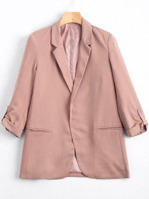 Lapel Buttoned Tabs Sleeve Blazer