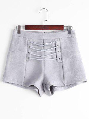 Shorts à Lacets Haute Taille - Gris S