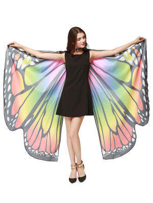 Chiffon Butterfly Strap Shape Wing Cape