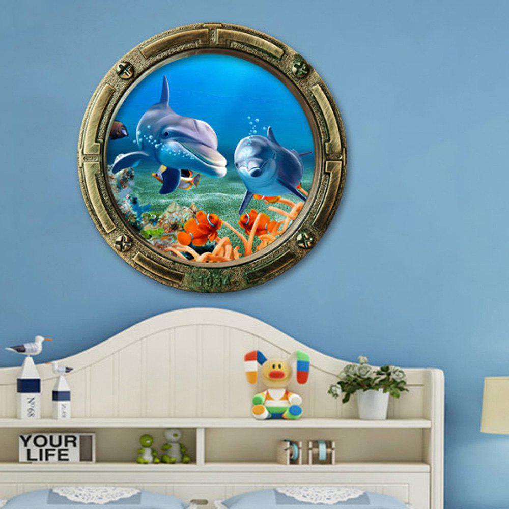 Autocollant muraux en vinyle et vinyle sous-marin 3D Dolphin