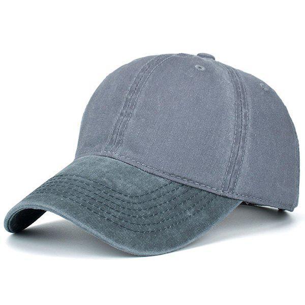 Chapeau de baseball de blocage de couleur nostalgique
