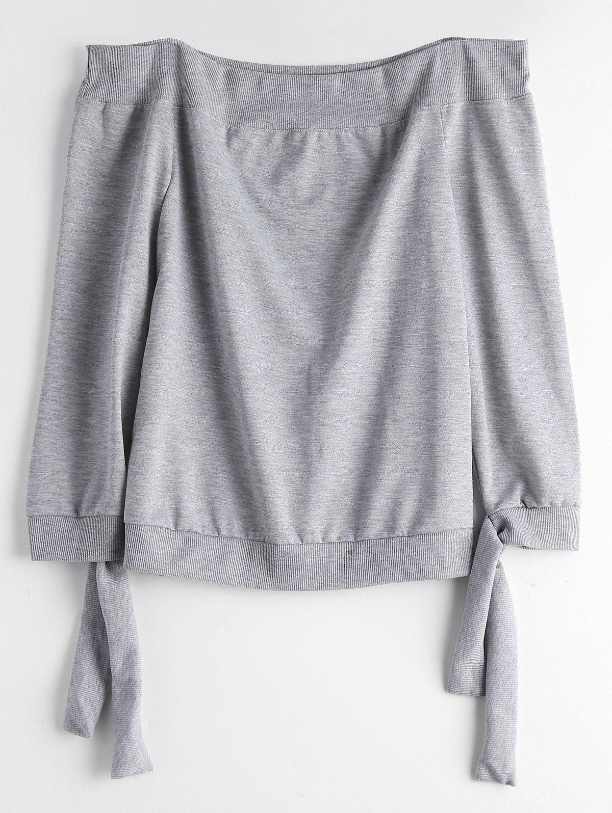 Sweat-shirt Noué Col Bardot