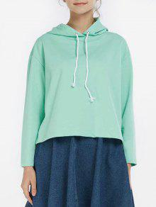 Sporty Boxy Hoodie - Green S