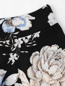 S Cultivador De Floral Falda Corte Y Negro Conjunto qTA0qwar