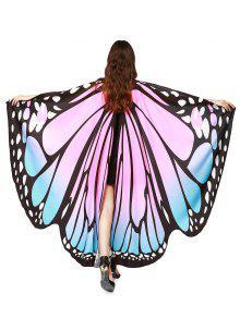 Chiffon Butterfly Strap Shape Wing Cape - Light Pink