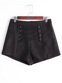 Short à Lacets Taille Haute - Noir M