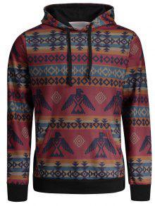 الكنغر جيب القبائل المطبوعة هوديي - Xl