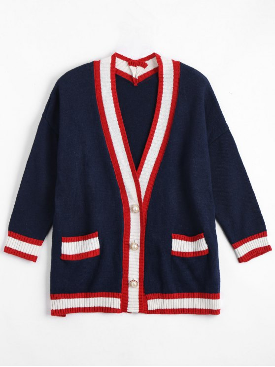 Cardigan de taille grand taille - Bleu Violet TAILLE MOYENNE