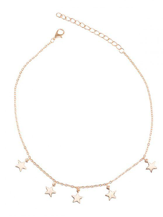 Collier en chaîne à collier en forme de charme - Or