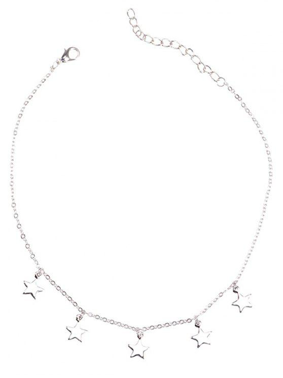latest Charm Star Collarbone Chain Necklace - SILVER
