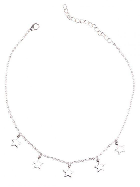 Charm Star Collarbone Kettenhalskette - silber