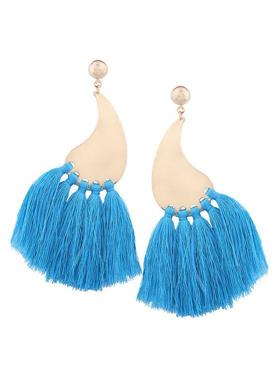 lady Statement Long Tassel Earrings - BLUE