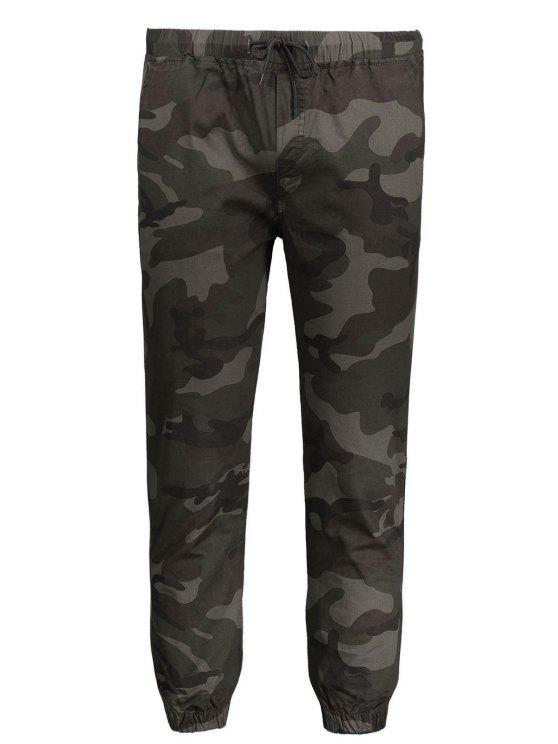 women's Drawstring Camo Jogger Pants - ARMY GREEN 2XL