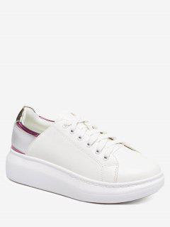 Platform Color Block Sneakers - Purple 40