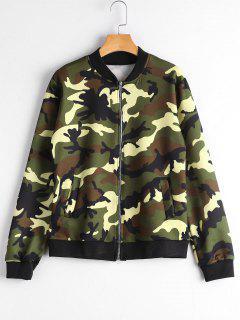Zip Up Taschen Camouflage Jacke - Camouflage 2xl