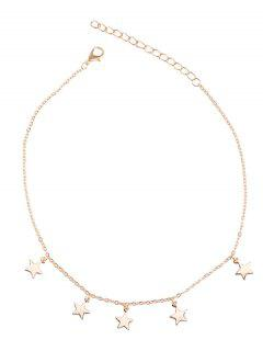 Charm Star Collarbone Chain Necklace - Golden