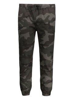 Pantalon De Jogger Camouflage à Cordon - Armée Verte Xl