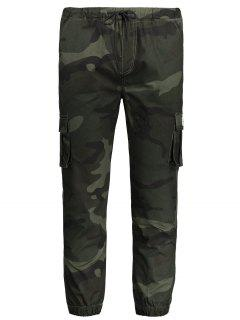Drawstring Camouflage Jogger Pants - Army Green 2xl