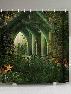 Maison En Bois Imprimer Rideau De Douche Imperméable à L'eau - Largeur71pouces*longueur79pouces