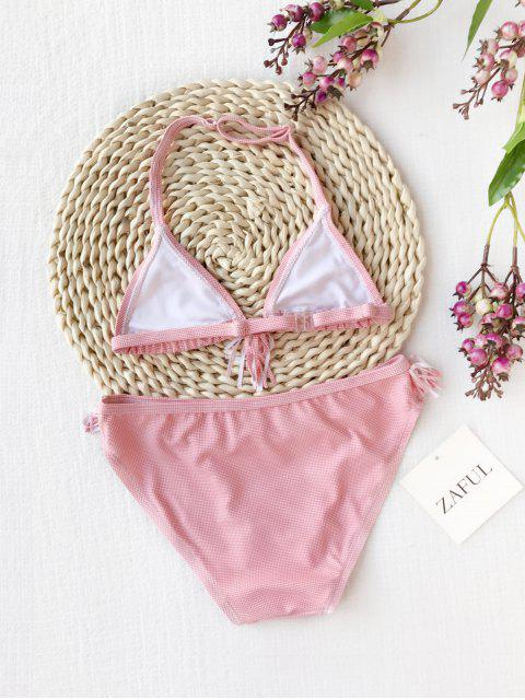 outfit Fringes Dotted Halter Kid Bikini - RED 8T Mobile