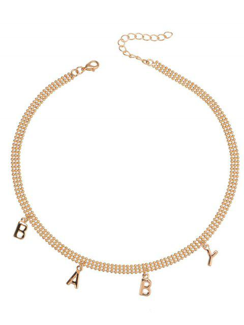 outfits Charm Alloy Beaded Baby Necklace -   Mobile