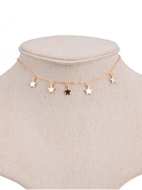 Gargantilha de Corrente com Pingente de Estrela - Dourado  Mobile