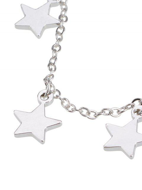 latest Charm Star Collarbone Chain Necklace - SILVER  Mobile