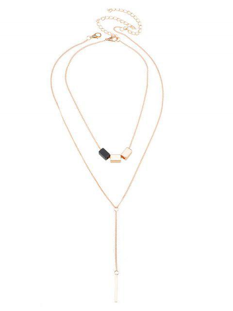 Conjunto Geométrico del collar del círculo de la barra - Dorado  Mobile