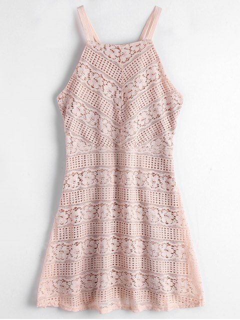 outfits Double Layered Cami Lace Dress - LIGHT PINK M Mobile