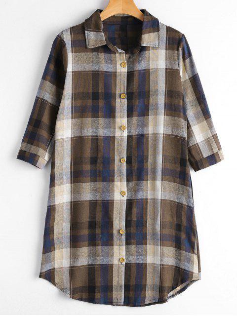 Chemise boutonnée boutonnée avec poches - café M Mobile