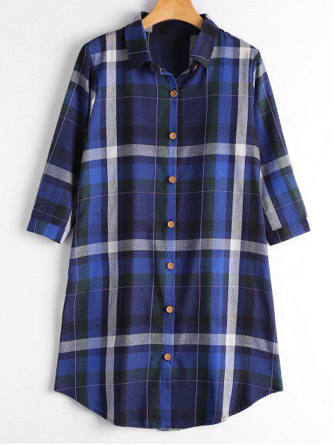 Chemise boutonnée boutonnée avec poches - Royal M Mobile