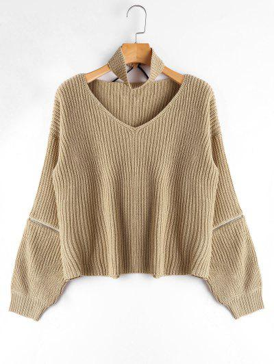 V Neck Chunky Sweater...