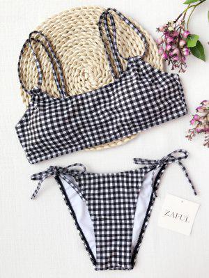 Plaid Doble Correas Bikini De Cuerda - Cuadro - Cuadro S